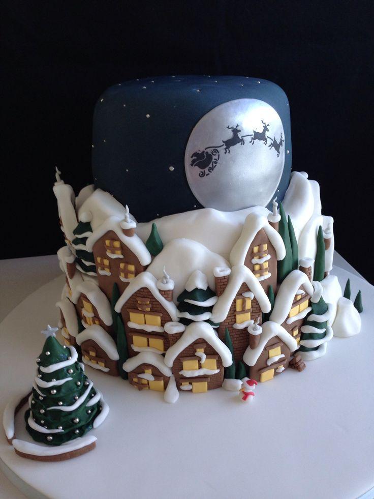 Christmas Cake Ideas.Santa Clause Is Coming To Town Christmas Cake Amazing Cake