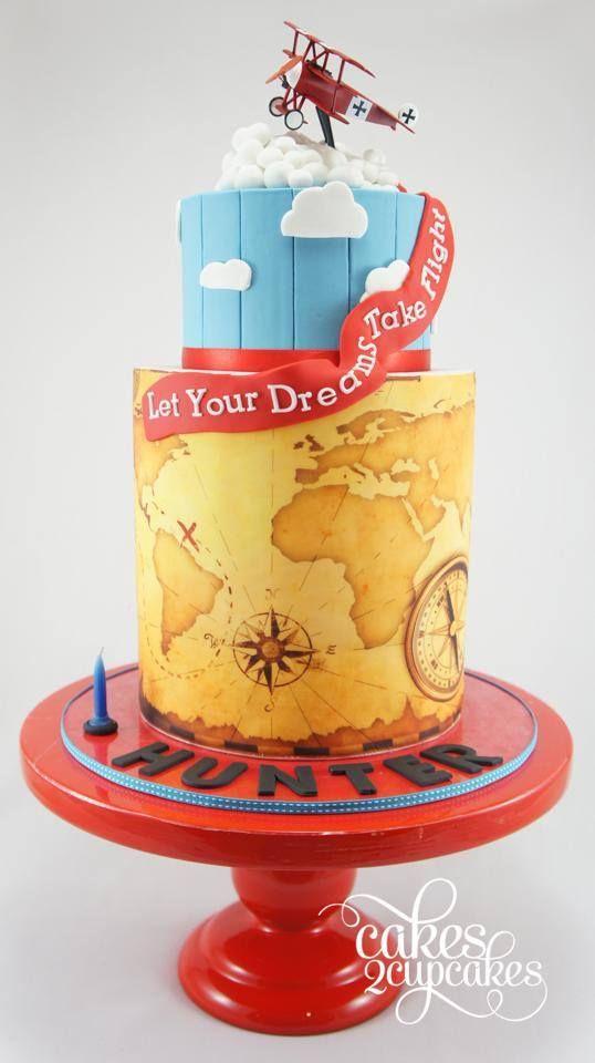 Vintage Plane Themed 1st Birthday Cake Amazing Cake Ideas