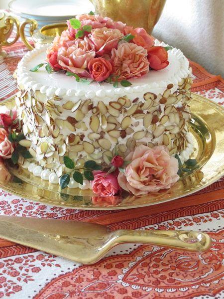 Phenomenal Almond Birthday Cake With Garden Roses Amazing Cake Ideas Personalised Birthday Cards Vishlily Jamesorg