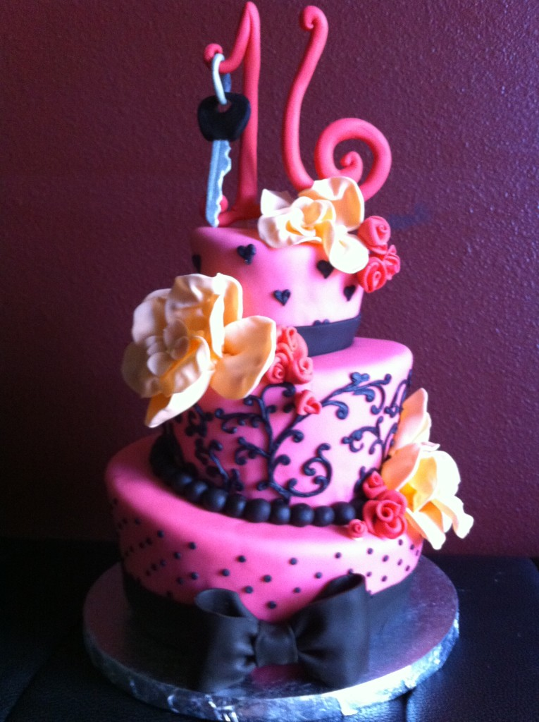 Beautiful Pink Birthday Cake