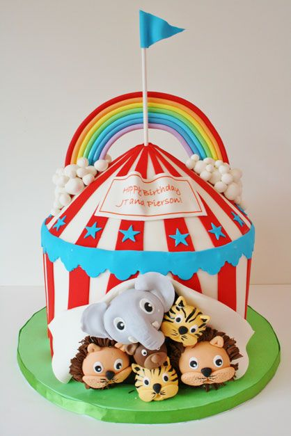 Birthday Cake NJ Circus Custom