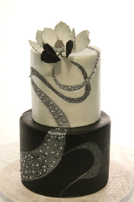 Black And White Heel Cakes
