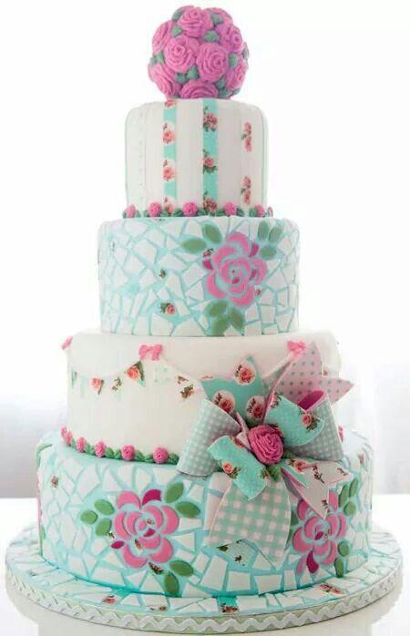 Fantastic Mosaics Cake