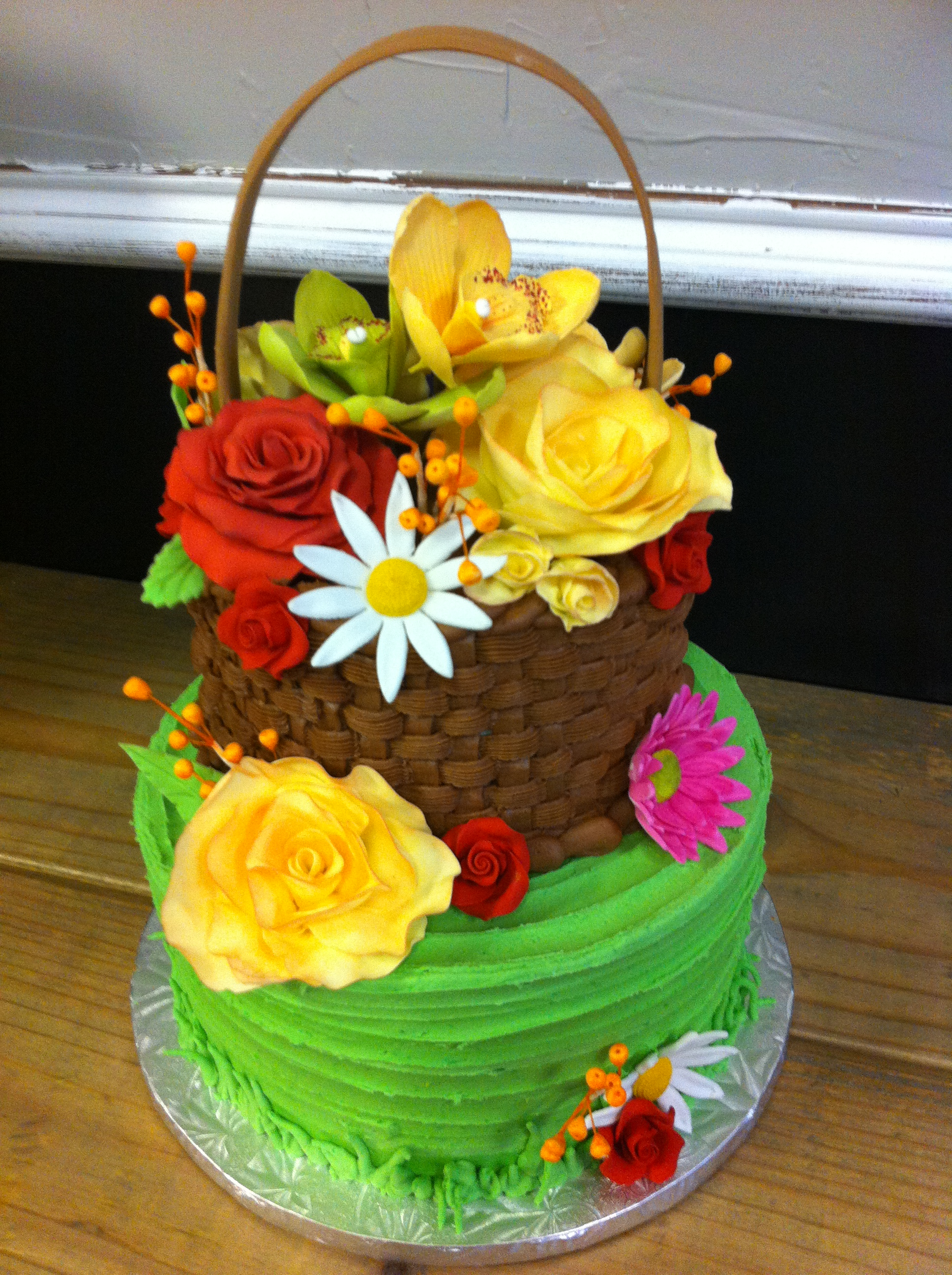 Flower Basket Cake Ideas
