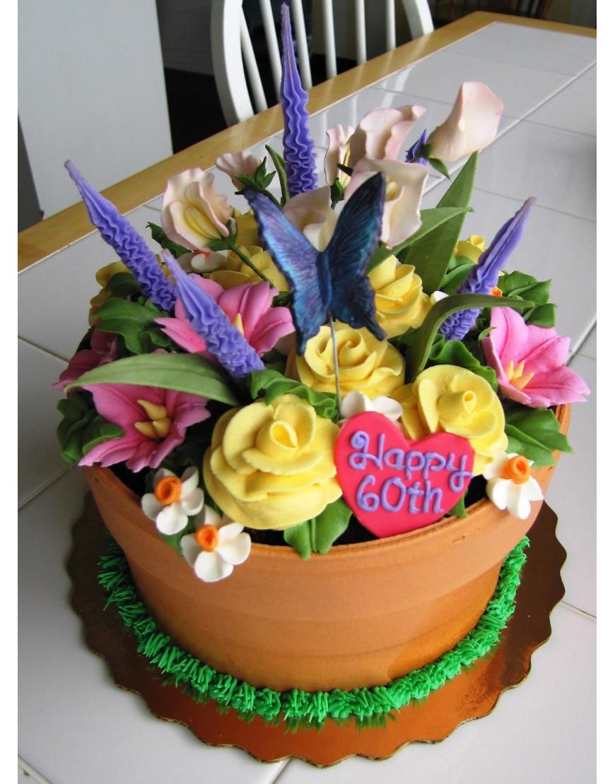 Flower garden cake amazing cake ideas flower garden cake izmirmasajfo