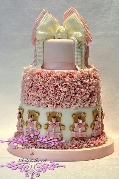 Girl Teddy Bear cake