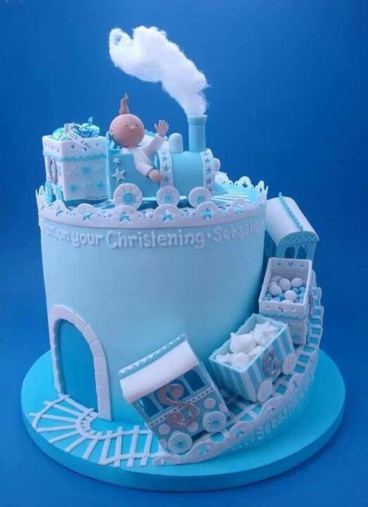 Lovely Blue Christening Cake & Lovely Blue Christening Cake - Amazing Cake Ideas