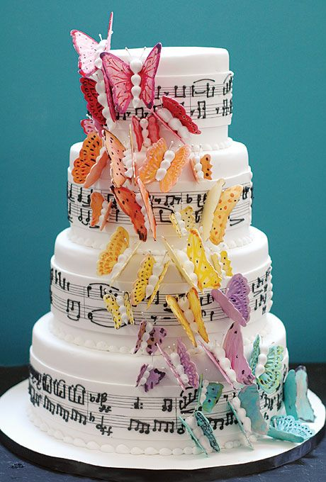 Music Themed Wedding Cake Toppers