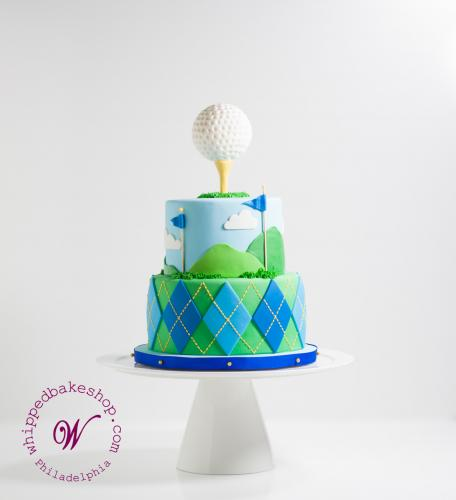Preppy Golf Ball Cake