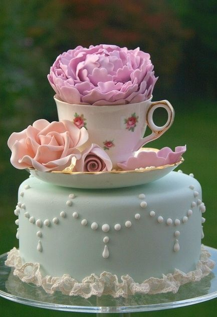 Pretty Cup on Cake