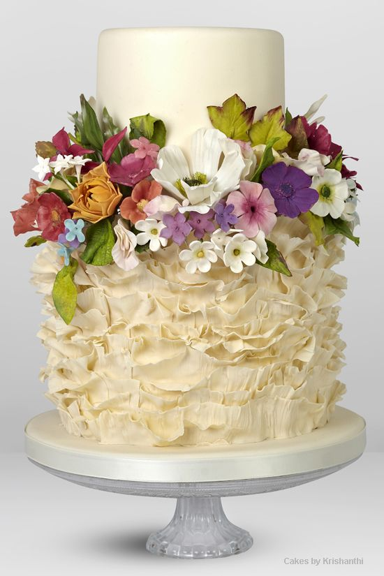Modern Flower Birthday Cake