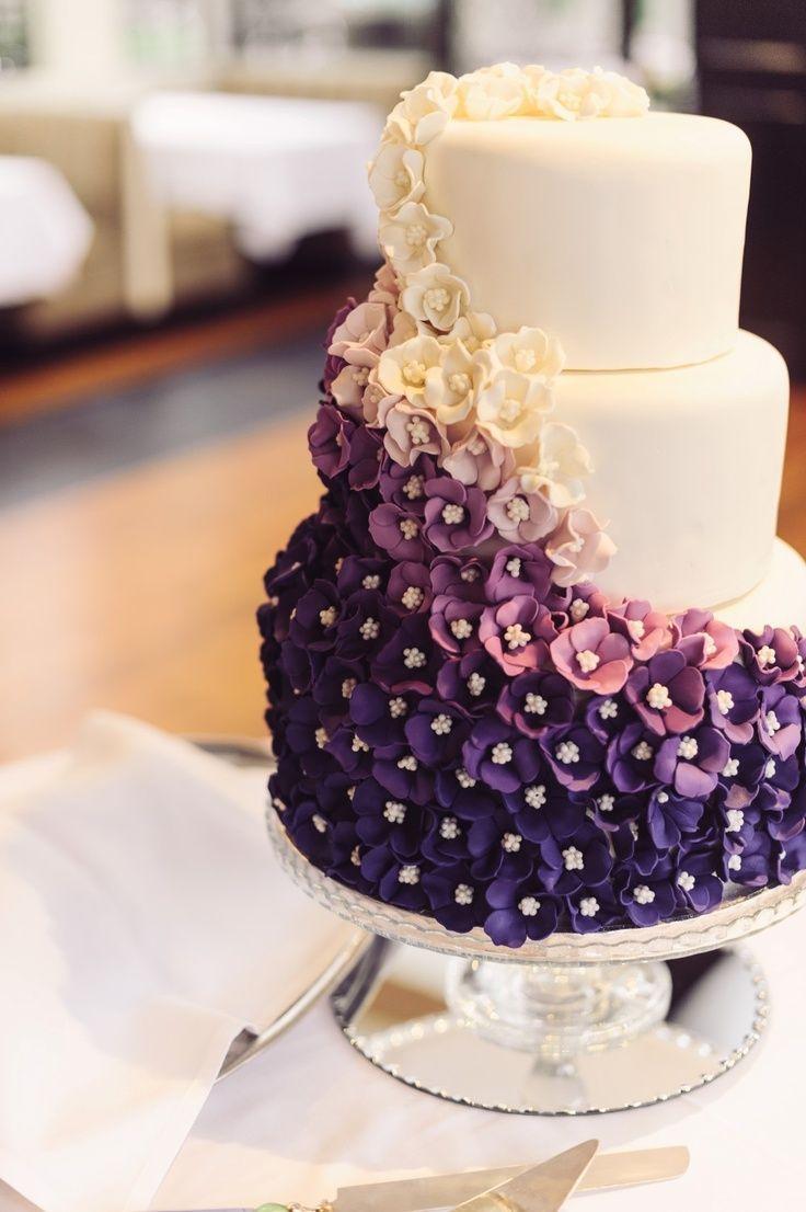 Vibrant Purple And Exquisite Sugar Flowers Cake Amazing Cake Ideas