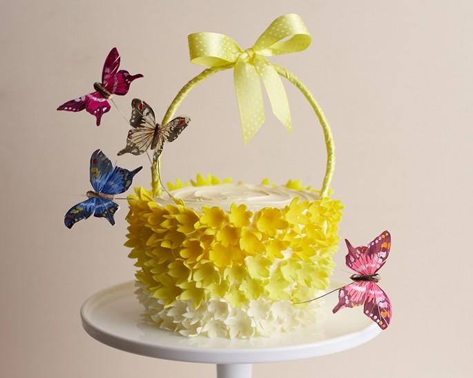 Yellow Basket Cake