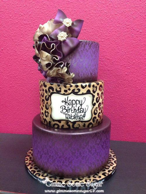 Incredible Animal Print Birthday Cake Amazing Cake Ideas Funny Birthday Cards Online Elaedamsfinfo