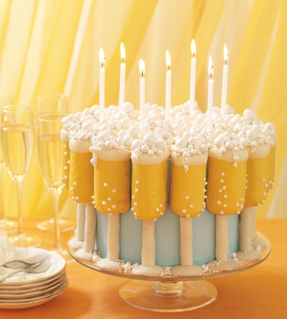 Champagne Glasses Cake