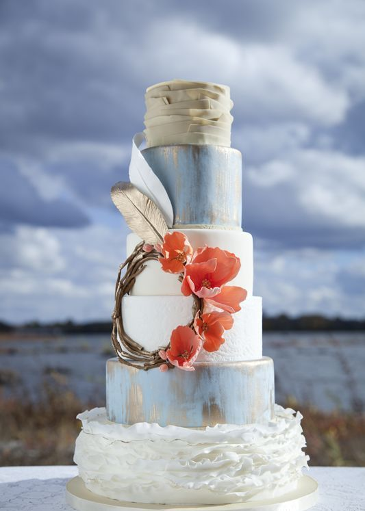 Delicious and Beautiful Boho Chic Cake