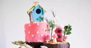 Enchanted Birdhouse Forest Cake
