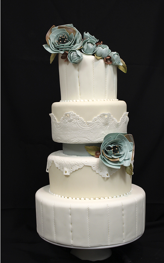 amazing wedding cakes with flowers fabric flowers headband cake amazing cake ideas 10736