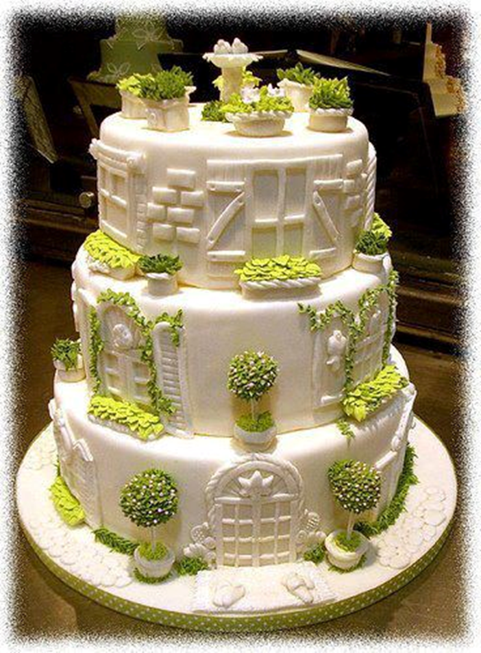 Top 20 highly sophisticated and beautiful cakes page 13 for Garden wedding cake designs