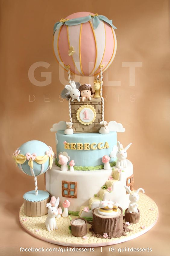 Hot Air Balloon - Cake by Guiltdesserts
