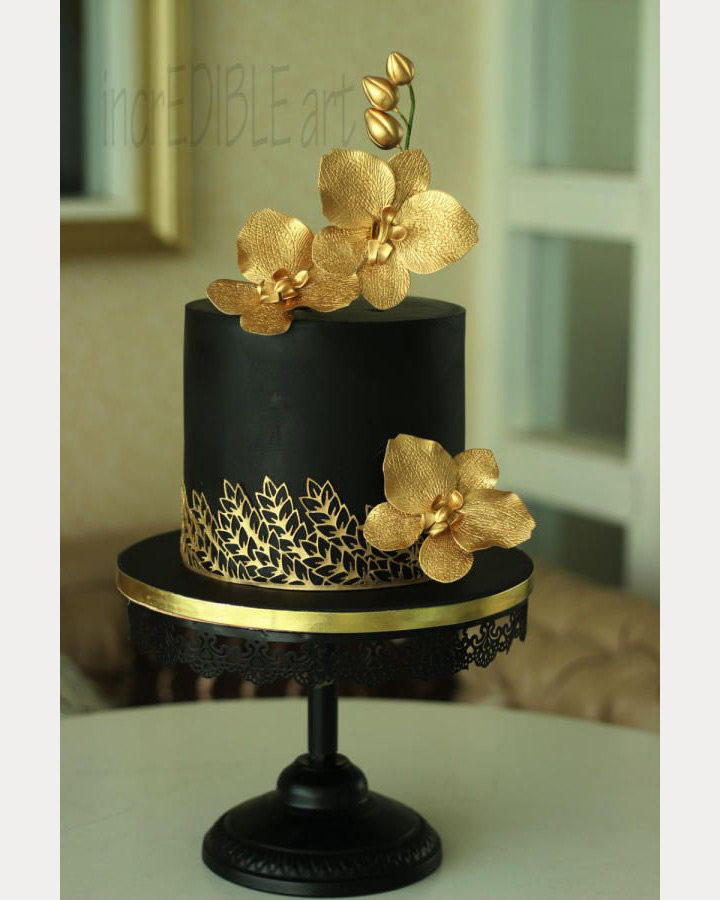 Black And Gold Birthday Cake Ideas Cake Image Diyimages Co