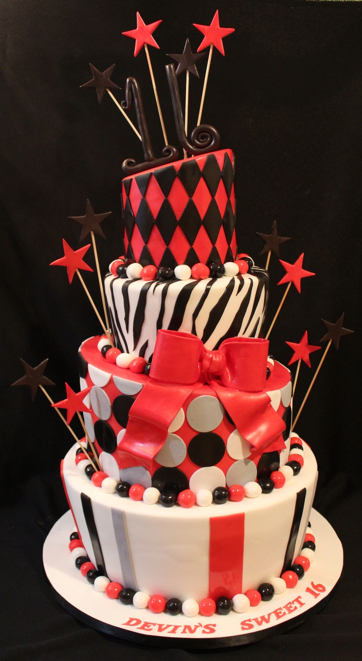 Sweet Sixteen Birthday Cake Designs