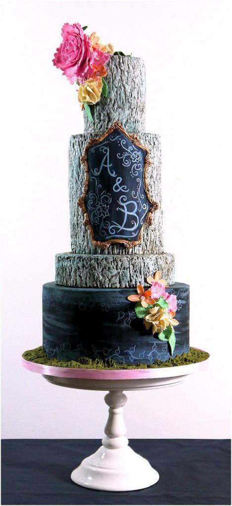Rustic Chalk Cake