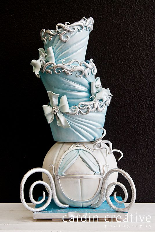 Topsy Turvey Cinderella Carriage Disney Birthday Cake