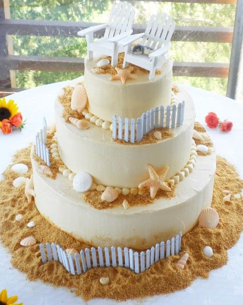 Unique Beach Wedding Cake