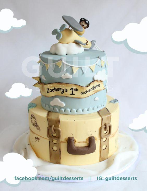 Wedding Cake Topper Luggage
