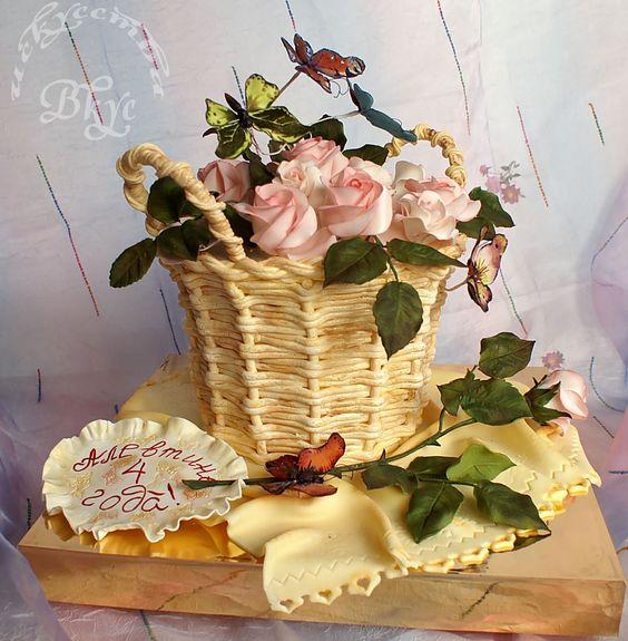 3d Basket With Flowers Birthday Cake By Tatianak Amazing Cake Ideas