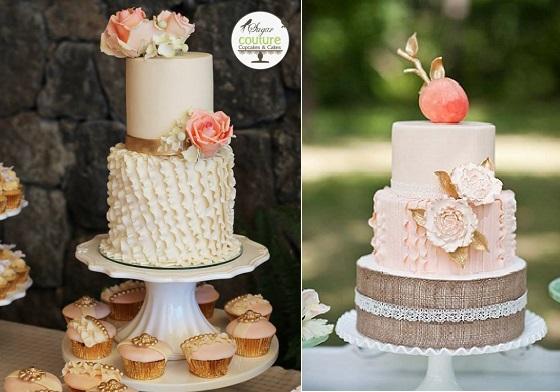 Asymmetrical Fondant Frills Cake by Sugar Couture