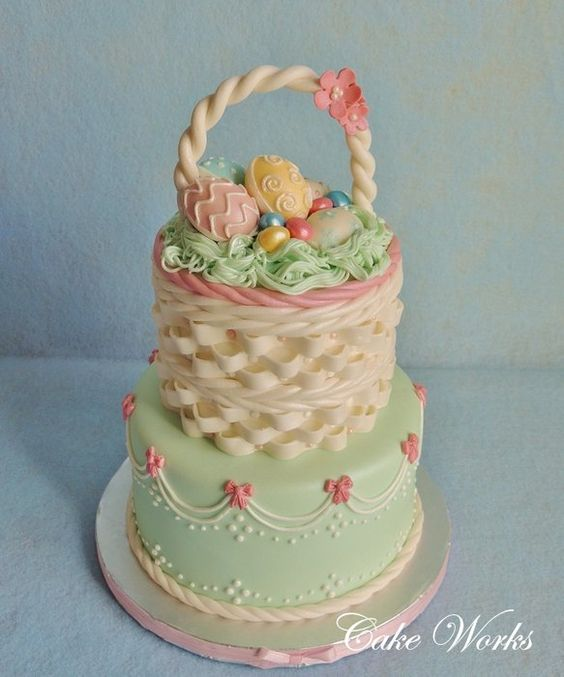 Beautiful easter basket cake amazing cake ideas beautiful easter basket cake negle Gallery