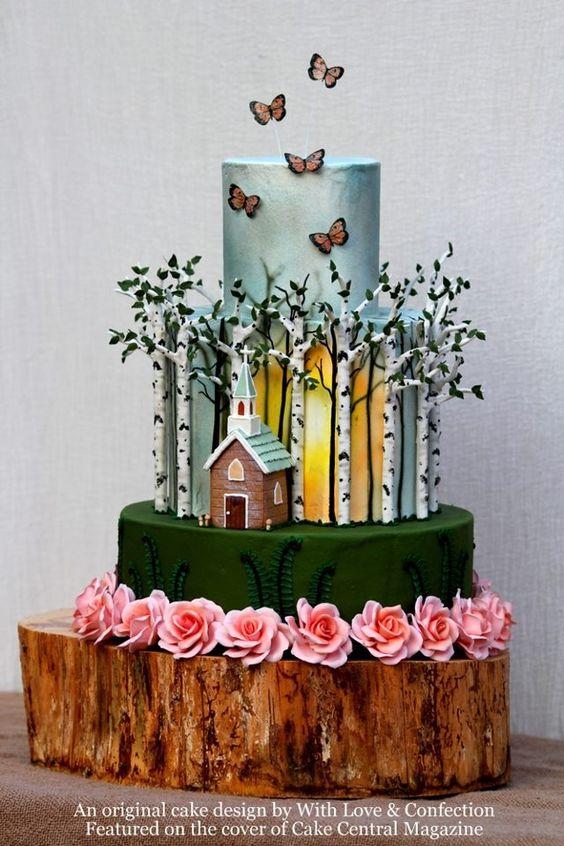 Birch Forest Cake