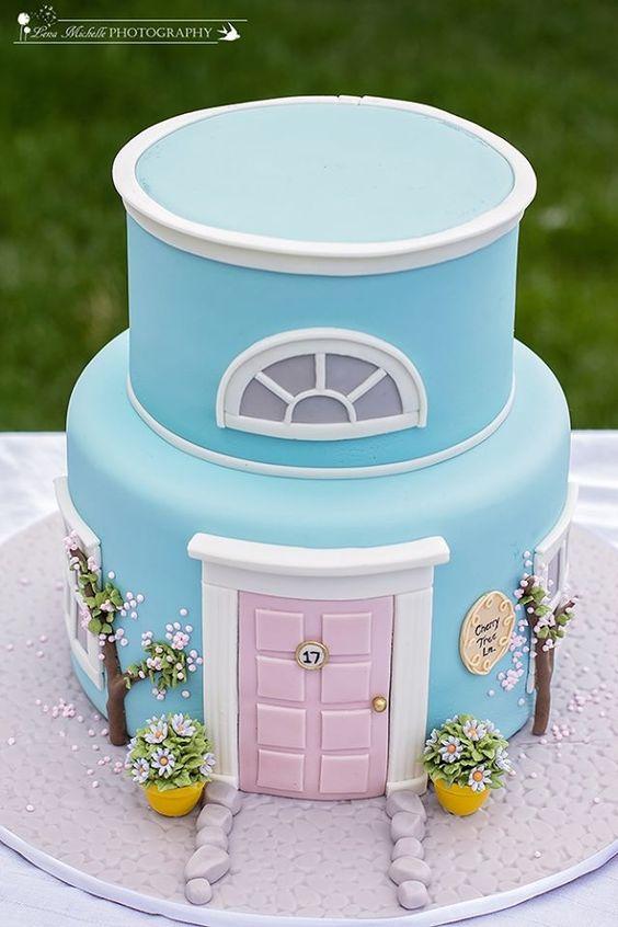 Blue House Cake Amazing Cake Ideas