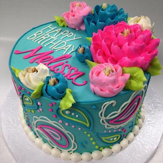 Buttercream Floral Birthday Cake Amazing Cake Ideas