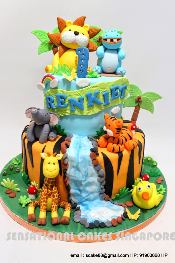 Cake with Water Fall
