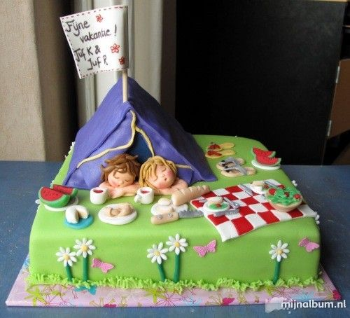 Astounding Camping Cake Amazing Cake Ideas Funny Birthday Cards Online Alyptdamsfinfo