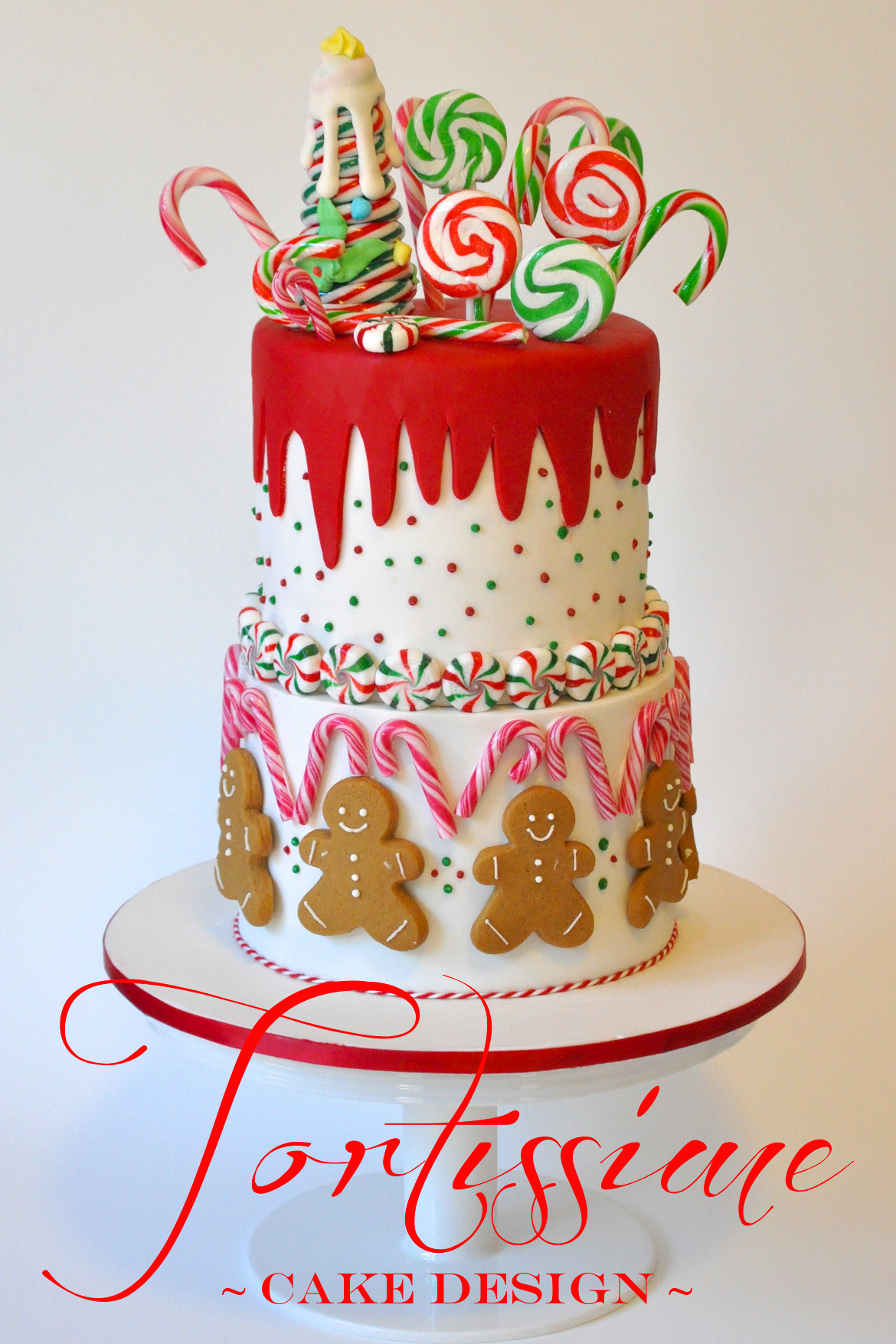 Awesome Candy Cane And Gingerbread Amazing Cake Ideas Funny Birthday Cards Online Hetedamsfinfo