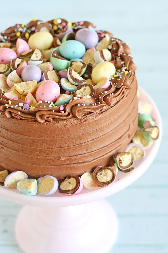 Chocolate Frosting Easter Cake