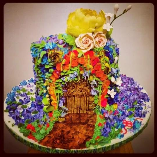 Colorful Enchanted Garden Cake Amazing Cake Ideas