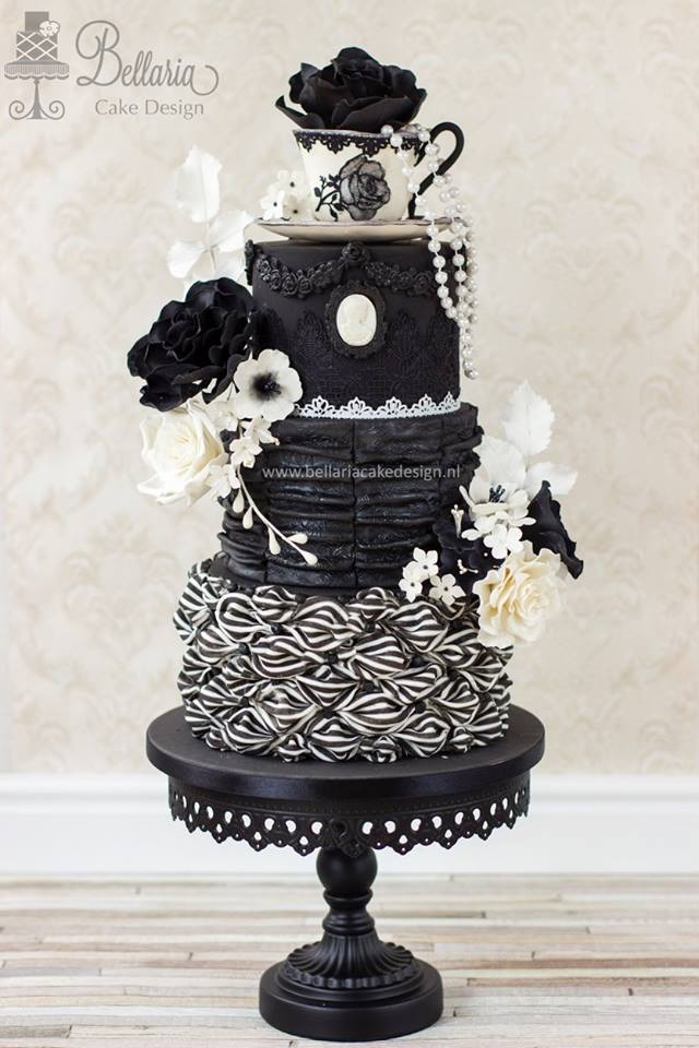 Gorgeous piece by Riany of Bellaria Cake Design created for A sugar Artists Tea Party collaboration