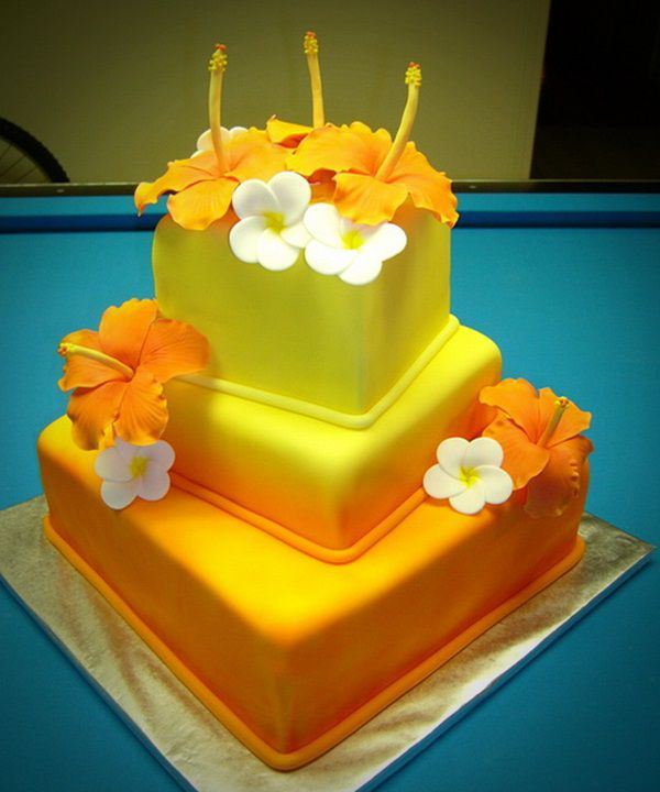 Hawaiian Themed Wedding - Amazing Cake Ideas