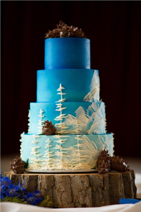 mountain forest wedding cake amazing cake ideas