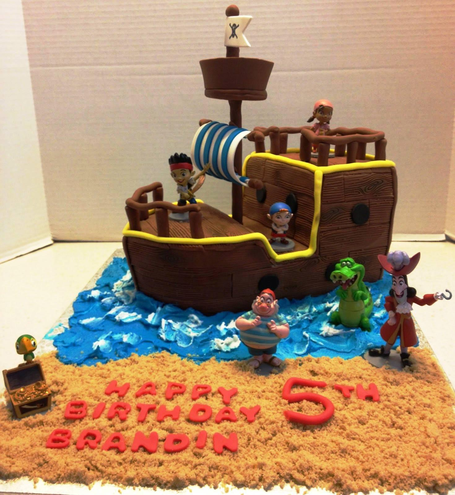 Excellent Picture Of Jake And The Neverland Pirates Birthday Cake Amazing Funny Birthday Cards Online Inifodamsfinfo