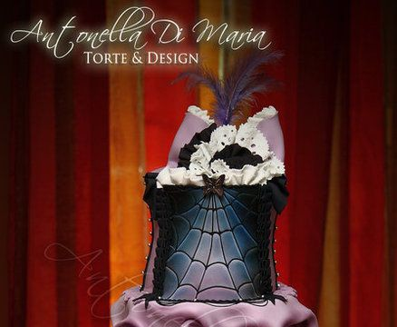 Purple and Black Gothic Burlesque Cake