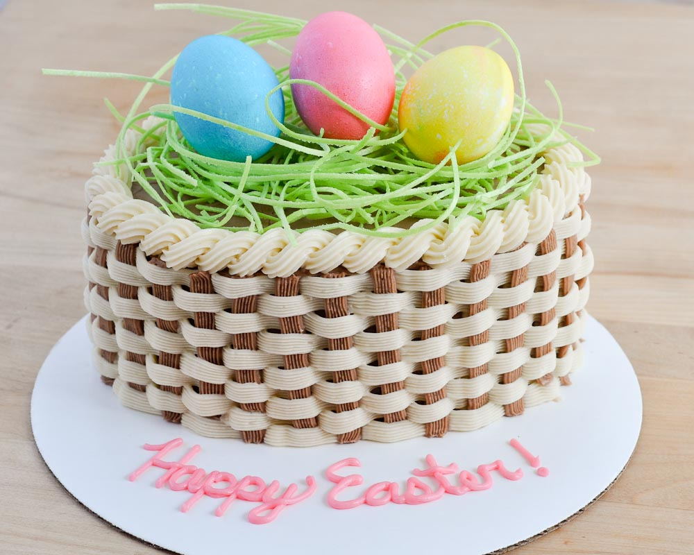Special Easter Basket Cake
