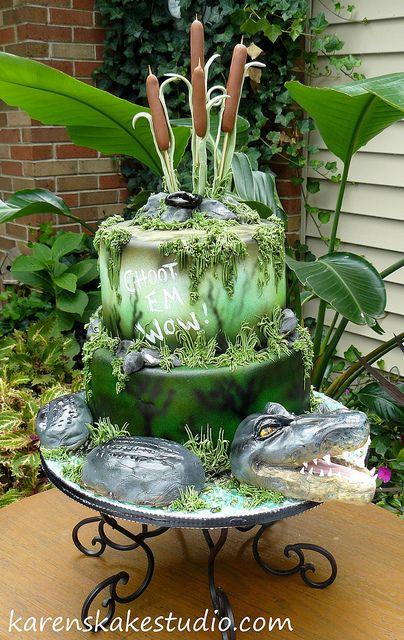 Swamp Theme Cake