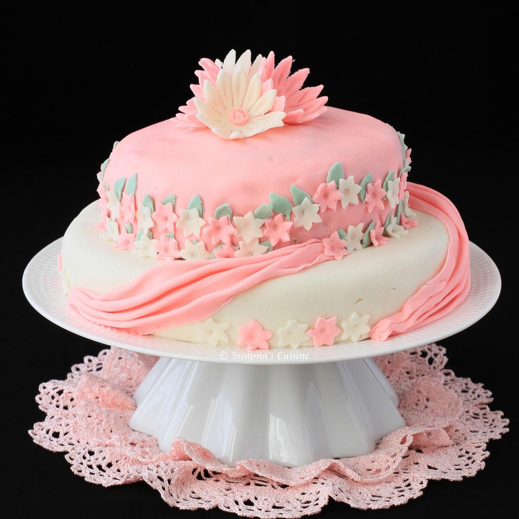 tier one fondant birthday cakes