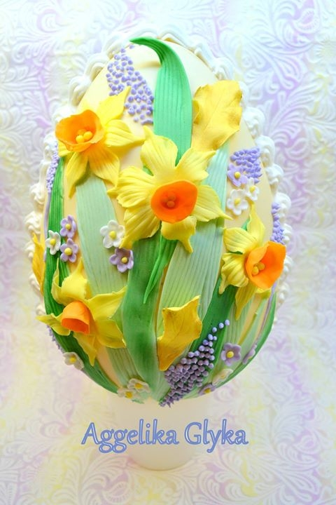 Beautiful Egg Cake